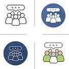 Business,People,Occupation,Team,Group Of People,Vector,Striped,Long Shadow - Shadow,Colors,Design,Symbol,Straight,Teamwork,Discussion,Computer Icon,Flat,Design Professional,Long Shadow Design,Color Image,Conference,Presentation,Global Communications,Communication,Meeting,Conference Call,Conference