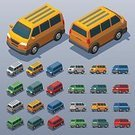 Three Dimensional,Lifestyles,Transportation,Van - Vehicle,Shape,Exercising,Computer Icon,Illustration,City Life,No People,Mini Van,Infographic,Isometric Projection,62221,268360,Low-Poly-Modelling