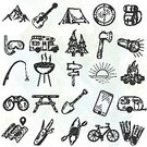 Sport,Illustration,Drawing - Activity,Human Hand,Symbol,Holiday,Summer,Sign,Campfire,Camping,Compass,Travel,Park - Man Made Space,Displaced Persons Camp,Summer Camp,Tent,Style,Tourism,Silhouette,Outdoors,Activity,Binoculars,Mountain,Doodle,Land Vehicle,Kitchen Knife,Fire - Natural Phenomenon,Cartography,Hand-drawn,Vector,Vacations,Flashlight,Igniting,Backpack,Tree,Equipment,Recreational Pursuit,Relaxation,Adventure,Computer Graphic,Black Color,Set,Nautical Vessel,Bag,Design Element,Sketch,Wilderness Area,Leisure Activity,Tourist,Wood - Material,Design,Map