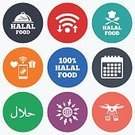 Hallal,Food,Symbol,Sign,Communication,Tray,Meat,Spoon,Computer Software,Camera - Photographic Equipment,Calendar,Label,Chef,Shape,Islam,Percentage Sign,Illustration,Downloading,Dieting,Vector,Merchandise,Photography Themes,Paying,Token,Wireless Technology,Religious Symbol,Halal,Mobile App,Hat,Badge,Chef's Hat