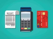 Buying,Illustration,Electrical Equipment,Flat,Design,Customer,Isolated,Finance,Currency,Receipt,Sign,Smart Card,Paying,Single Object,Technology,Business,Symbol,Sale,Vector,Credit Card,cashless,Pos-terminal,Plastic,Banking,Coin Bank,amount,Order,Cartoon