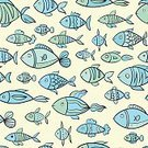 Fishing,Backgrounds,Part Of,Decor,Modern,Swimming Animal,Life,Decoration,Backdrop,Lifestyles,Wildlife,Fish Tank,Drawing - Art Product,Animal,Animal Fin,Tropical Climate,Wallpaper,Fish,Aquatic,Wallpaper Pattern,Water,Pattern,Design Element,Doodle,Seamless,Computer Graphic,Green Color,Cute,Vector,Set,Aquarium,Underwater,Illustration,Diving Flipper,Fun,Sea,Prepared Fish,Nature