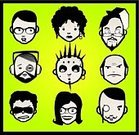 Men,Human Face,Club Dj,Symbol,Women,Cartoon,Human Head,Punk,Teenager,Pierced,Headphones,Icon Set,Vector,Family,Displeased,Eyeglasses,Avatar,Friendship,Sadness,Ilustration,Human Mouth,Multi-Ethnic Group,Set,Adult,Young Adult,Green Color,Earring,Collection,Ear Plug,Pendant,People,Illustrations And Vector Art,Vector Cartoons,Skull Cap,Drop Earring,Hoop Earring,web icon