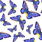 Nature,Illustration,Pattern,Multi Colored,Flying,Seamless