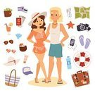 Illustration,Animal Shell,Summer,Tourism,Cocktail,Sand,Holiday,Nature,Design,Set,Vacations,Fun,Design Professional,Tropical Climate,Sunlight,Currency,Purse,Headphones,Drinking Water,Hat,Map,Ticket,Journey,Surf,Cream,Tossing,Starfish,Shoe,Beach,Palm Tree,Sunglasses,Season,Symbol,Travel,Surfing,Island,Sea,Cultures,Relaxation,Suntan Lotion,Change Purse,Telephone,Greeting Card,Circle,Luggage,Air,Vector,Journey - Entertainment Group,Eyeglasses,Resting,Sun