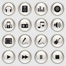 Music,Interface Icons,Playing,Symbol,Computer Icon,MP3 Player,Microphone,Sign,Headphones,Radio,Guitar,Set,Speaker,Shiny,Black Color,Electric Plug,Plan,Vector,Internet,Volume - Fluid Capacity,Gray,Reflection,Black And White,Silver Colored,CD,Clip Art,Design,Arts And Entertainment,Illustrations And Vector Art,Arts Symbols,Vector Icons,Industry