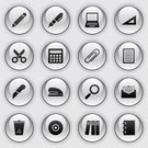 Office Supply,Symbol,Computer Icon,Utility Knife,Paper,Internet,Vector,Ring Binder,Set,Black Color,Plan,Interface Icons,Bin/tub,Black And White,Gray,Silver Colored,Clip Art,Sign,Computer,Ruler,Design,Shiny,CD,Mail,Illustrations And Vector Art,Arts And Entertainment,Reflection,Vector Icons,Arts Symbols,Industry