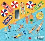 Sport,Design,Water,Summer,Sea,Backgrounds,Illustration,Cartoon,No People,Vector,Travel,Holiday - Event,Background