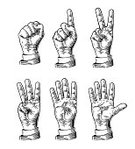 Adult,Men,Number 1,Human Finger,Sign,Clapping,Mathematics,Arms Raised,Collection,Engraved Image,Illustration,Greeting,Beckoning,Plate,Number 2,Pointing,Number 5,Number,Play Signal,Human Hand,Handshake,Hailing,High-Five,Four Objects,Vector,Human Arm,Males,Gesturing,Fist