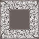 Frame,Square,Silhouette,Black And White,No People,Monochrome,Illustration,Swirl,Monochrome,Vector,Doily,Lace - Textile,Floral Pattern,White Color