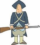 Colonial Style,Men,Armed Forces,Cartoon,Rifle,War,Gun,Uniform,Concepts And Ideas,People,USA,Male,Fun,Humor,Army