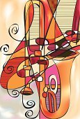 Jazz,Trombone,Musical Instrument,Brass Band,Music,Music Festival,Performing Arts Event,Abstract,Entertainment,Musical Symbol,Vector,Popular Music Concert,Ilustration,Treble Clef,Sound,Arts Abstract,Music,Arts And Entertainment,Illustrations And Vector Art