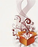 Gift,Box - Container,Open,Surprise,Opening,Exploding,Event,Party - Social Event,Backgrounds,Retro Revival,Funky,Vector,Ribbon,Fun,Design,Swirl,Ilustration,Circle,Decoration,Floral Pattern,Color Image,Celebration,Painted Image,Vector Florals,Vector Ornaments,Illustrations And Vector Art,Plant Shape,Vector Backgrounds