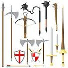 Weapon,Spear,Medieval,Lance,Arrow,Club,Sword,Shield,Cross Bow,Halberd,Old,Axe,Ancient,Knife,Pike - Weapon,Dagger,Vector,Spiked,Mace,Coat Of Arms,Icon Set,heraldic,Ilustration,Antique,No People,Flail,The Past,hilt,Clip Art,Old-fashioned,Obsolete,Isolated On White,Blade