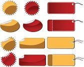 Labeling,Price,Sale,Gift Tag,Label,Red,Yellow,Illustrations And Vector Art,Vector,Copy Space,Ilustration,Message
