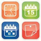 Calendar,Planning,Symbol,Personal Organizer,Computer Icon,Icon Set,Clock,To Do List,Label,Adhesive Note,Time,Green Color,Sticky,Sign,Set,Number 15,Orange Color,White,Blue,List,Red,Vector,Simplicity,Reflection,Office Supply
