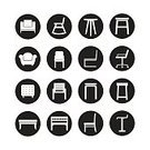 Furniture,Illustration,Collection,Domestic Room,Comfortable,Desk,Shape,Computer Graphic,Table,Sofa,Vector,Sign,Symbol,Stool