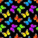 Backgrounds,Tropical Butterfly,Pattern,Animal,Nature,Butterfly - Insect,Illustration,Animal Wing,Repetition,Animal Themes,Insect,Vibrant Color,Watercolor Painting,Black Color,Seamless,Colors,Paintings,Painted Image,Hand Colored,Color Image,Bright,Monarch Butterfly,Multi Colored,Lepidoptera,Flying,Brightly Lit