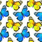 Butterfly - Insect,Watercolor Painting,Illustration,Multi Colored,Tropical Butterfly,Backgrounds,Flying,Pattern,Repetition,Painted Image,Fine Art Painting,Monarch Butterfly,Color Image,Colors,Paintings,Seamless,Animal