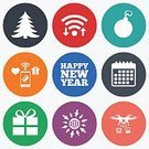 Humor,Year,Winter,Event,Gift,Celebration,Paying,Wireless Technology,Tree,Christmas,Symbol,Vector,Calendar,Camera - Photographic Equipment,upload,Application Software,Badge,Label,Token,Shape,Sign