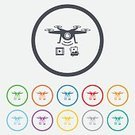 Shape,Creativity,Token,Label,Symbol,Vector,Badge,template,Backgrounds,Yellow,Geometric Shape,Computer Graphic,Sign,Transportation,Application Software,Illustration,Blue,Red,Circle,Technology,Helicopter,Air,Wireless Technology,Camera - Photographic Equipment,Air Vehicle,Copter