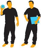 Silhouette,People,Casual Clothing,Laptop,Business,Computer,Holding,Back Lit,Creativity,Standing,Technology,Cool,City Life,Vector,CD,Funky,Gripping,Young Adult,Orange Color,Relaxation,Blue,CD-ROM,Showing,Illustrations And Vector Art,illustratyions,Multimedia