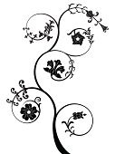 flover,Flower,Swirl,Black Color,Retro Revival,White,Pattern,Decoration,Floral Pattern,Vector,Backgrounds,Nature,Old-fashioned,Abstract,Ornate,Plant,Plants,Vector Florals,Nature,Flowers,Isolated,Ilustration,Curled Up,Image,Illustrations And Vector Art