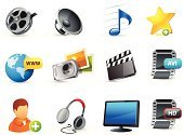 Computer Icon,Icon Set,Internet,Video,Music,Multimedia,Information Medium,Movie,Photograph,Film,Photography,Camera - Photographic Equipment,Television Set,Film Reel,user,Profile View,Speaker,Set,Adulation,Video Still,Headphones,Interface Icons,Add,Musical Note,www,Computer Monitor,Camera Film,Global Communications,Star Shape,Earth,High-definition Television,Headset,avi,Sphere,Shape,Plus Sign,web icons,Arts Symbols,Computers,Vector Icons,Compact Camera,Technology,Illustrations And Vector Art,Arts And Entertainment