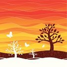 Backgrounds,Landscape,Abstract,Circle,Tree,Springtime,Yellow,Orange Color,Vector,Vibrant Color,Pattern,Striped,Heat - Temperature,Multi Colored,Farm,Drawing - Art Product,Symbol,Summer,Nature,Red,Curve,Butterfly - Insect,Gold Colored,Sunrise - Dawn,Square,Vitality,In A Row,Square Shape,Brown,Computer Icon,Color Image,Flowing,Ilustration,Bright,Outline,Growth,Shape,Life Cycle,Formal Garden,Plant,Clip Art,Beige,Horizontal,Dawn,Deciduous Tree,Plant Nursery,Copy Space,Wallpaper Pattern,Morning,Season,Beauty In Nature,Front or Back Yard,Nature,Illustrations And Vector Art