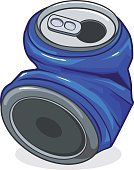 No People,Drink,Tin,Crushed,Recycling,Can,Empty,Scrap Metal,Illustration,Metal,Garbage,Drink Can,Soda,Aluminum,Social Issues,Vector,Empty,Crumpled