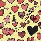 Background Pattern,Heart Vector,Heart Valentine,Romance,February,Computer Graphics,Day,Passion,Love,Doodle,Ornate,Valentine's Day - Holiday,Collection,Pair,Illustration,Shape,Symbol,Computer Graphic,Heart Shape,Decoration,Vector,Drawing - Art Product,Multi Colored,Greeting,Red,Pattern