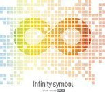 Scale,Simplicity,Symbol,Infinity,Multi Colored,Illustration,Vector,Sparse,editable,printable