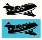 Airplane,Symbol,Commercial Airplane,Taking Off,Flying,Wing,Landing - Touching Down,Computer Icon,Air Vehicle,Speed,Single Object,Black Color,Vector,Ilustration,Turbine,Travel,Transportation,Sky,Large,Image,Public Transportation,Engine,Mode of Transport,Fuselage,Transportation,Computer Graphic,Journey,Design Element