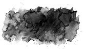 Horizontal,Black And White,Paint,Painting,Black Color,Transparent,Spotted,Paper,Cloud - Sky,Drop,Wet,Backgrounds,Paintbrush,Abstract,Watercolor Painting,Illustration,Stained,No People,Blob