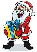 Box - Container,Gift,Christmas,Characters,Cartoon,bring,Giving,Design Element,Illustration,Sharing,Senior Adult,greybeard,Vacations,Cheerful,Laughing,Santa Claus,Adult,White,Backgrounds,Isolated On White,Isolated,Delivering,Carrying,Picking Up,Clip Art,bringing,Cute,Ribbon,Beard,Holiday,Happiness,Smiling,Vector