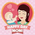 Women,Day,Separation,Females,Small,New Life,New,Baby,Smiling,Cheerful,Success,Backgrounds,Vector,Childhood,Family,Cartoon,Symbol,Anniversary,Mother,Illustration,Joy,Beauty,Beautiful,Ribbon,Cute,Nostalgia,Heart Shape,Love,Happiness,Life,Parent,Pattern,Typescript,Offspring,Celebration,Greeting,Poster,Holiday,Care