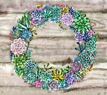Horizontal,Frame,No People,Flower,Plant,Succulent Plant,Wood - Material,Illustration,Nature,Leaf,Wreath,Watercolor Painting,Cactus,Decoration,Picture Frame,Paint,Plank,Bunch of Flowers,Curve,Bouquet,Construction Frame,Textured,Green Color