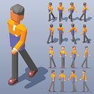 People,Low Poly,Young Men,Three Dimensional,Two-dimensional Shape,Three-dimensional Shape,Infographic,Vector,Right View,Rear View,character design,Travel,Modern,Isometric,Men,Style,Collection,The Human Body,Lifestyles,Front View,Left View,Illustration,Sports Clothing,Icon Set,Walking,Set,Choice,Casual Clothing,Computer Icon