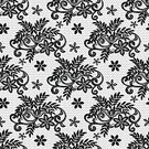 Textured Effect,Fashion,Single Flower,Wallpaper Pattern,Retro Styled,Romance,Decoration,Repetition,Vector,Ornate,Old,Illustration,Black Color,Textile,Backdrop,Leaf,Luxury,Pattern,Floral Pattern,Painted Image,White,Seamless,Backgrounds,Lace - Textile