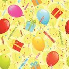 Birthday,Backgrounds,Seamless,Pattern,Confetti,Party - Social Event,Balloon,Wrapping Paper,Candle,Vector,Birthday Present,Streamer,Gift,Celebration,Cute,Glowing,Decoration,Party String,Ribbon,Anniversary,Bow,Illustrations And Vector Art,Ilustration,Holidays And Celebrations,Birthdays,Vector Backgrounds,Wallpaper Pattern