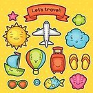 Fun,Happiness,Tourism,Journey,Resting,Asian and Indian Ethnicities,Japanese Culture,Japan,Small,Smiling,Toy,Summer,Illustration,Cloud - Sky,Computer Icon,Set,Design,Suitcase,Fish,Vector,Airplane,Hot Air Balloon,Nautical Vessel,Characters,Collection,kawai,Travel,Vacations,Relaxation,Baby,Child,Cartoon,Doodle,Ornate,Cute,Adventure,kawaii,Animal Shell,Design Element,Single Object,Sign,Flip-flop,Eyeglasses,Painted Image,Sun,Balloon,Passenger Ship,Symbol
