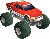Monster Truck,Toy,Toy Car,Truck,Car,Large,Motorsport,Vector,Ilustration,Land Vehicle,Transportation,Illustrations And Vector Art,Transportation,Vector Cartoons,Isolated On White,Wheel,White Background,No People,Single Object