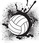 Sports Equipment,Competition,Sport,Black And White,Ball,Team Sport,Volleyball - Sport,Silhouette,Sports Team,Sports Activity,Illustration,Vector,Volleyball - Ball,Grunge