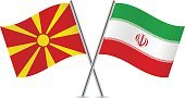 Pole,Banner,Curve,Waving,Isolated On White,Macedonia Flag,Iran,National Flag,Macedonian Flag,Illustration,Small,Two Objects,White Background,Iranian Flag,Macedonia - Country,Sign,Computer Icon,Symbol,Vector,Flag