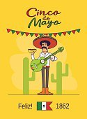 Entertainment,Retro Styled,Men,Cartoon,Cultures,Holiday,Isolated,Flat,Striped,Vector