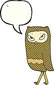 Bizarre,Book,Drawing - Activity,Bird,Cultures,Owl,Speech Bubble,Speech,Cute,Comic Book,Illustration,Doodle,Vector,Freehand,Clip Art