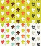 Clover,Leaf,Pattern,Fabric Swatch,Striped,Foliate Pattern,Flower Head,Backgrounds,Retro Revival,Seamless,White Background,Silhouette,Multi Colored,White,Variation,Symmetry,Floral Pattern,Modern,Natural Pattern,Nature,Illustrations And Vector Art,Design Element,Architectural Column,Vector Backgrounds