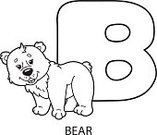 Alphabet,Coloring Book,Bear,Animals In The Wild,Zoo,Cute,Characters,Fun,Animal,Outline,Contour Drawing,Cartoon,Coloring