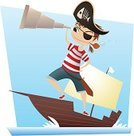 Pirate,Child,Nautical Vessel,Cartoon,Sailor,Little Boys,Explorer,Boat Captain,Hand-Held Telescope,Vector,Sailing,Sailing Ship,Adventure,Sea,Ilustration,Beach,Playing,Costume,Cheerful,Friendship,Characters,Binoculars,Sword,Looking,Brigantine,Sports Shoe,Playful,Imagination,Stage Costume,Success,Treasure Chest,Treasure,Male,Traditional Clothing,Beard,Pirate Binoculars,Navy,Caravel,Toughness,Hook,Human Skull,War,Sea Dog,Warship,Tall Ship,Coffin,Smiling,Earring,Coin,Accessibility