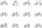 Vector,Single Line,Sport,Transportation,Design Element,Elegance,Land Vehicle,Wheel,Cultures,Cycling,UI,Clean,Bicycle,Street,People Traveling,Cycle,Mountain Bike,BMX Cycling,Trial,city bike,Road,Full Suspension,City Life,Bicycle Pedal,Vehicle Seat,Clip Art,Leisure Activity,Lightweight,Dirt Jump,Mode of Transport,Symbol,Fashion,Style,Sign,Icon Set,Outline,Computer Icon,Simplicity,Sparse,Thin,Illustration,Riding,Urban Scene,Penny Farthing Bicycle,Folding Bike,Low Rider,Recreational Pursuit,Healthy Lifestyle,Bicycle Frame,Pedal,Single Object,Coaster,Exploration